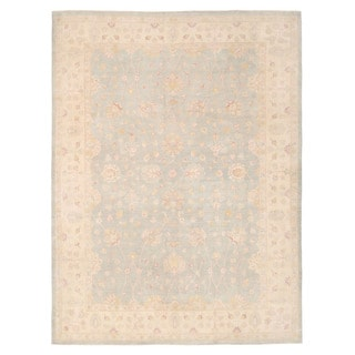 Herat Oriental Afghan Hand-knotted Oushak Wool Rug (9'11 x 13'3)