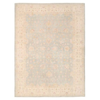 Herat Oriental Afghan Hand-knotted Oushak Wool Rug (9'11 x 13'3) - 9'11 x 13'3