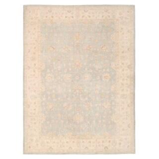 Handmade Herat Oriental Afghan Oushak Wool Rug - 9'11 x 13'3 (Afghanistan)
