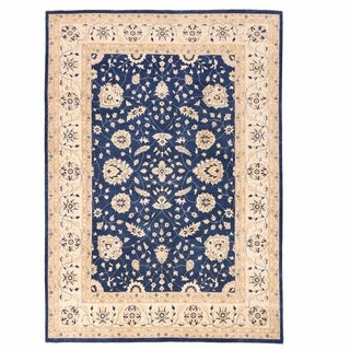 Herat Oriental Afghan Hand-knotted Oushak Wool Rug (9'11 x 13'10)