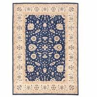 Handmade Herat Oriental Afghan Oushak Wool Rug  - 9'11 x 13'10 (Afghanistan)