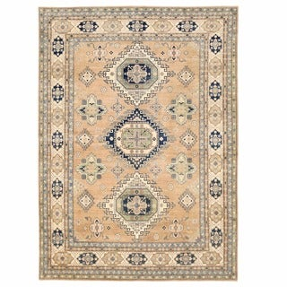 Herat Oriental Afghan Hand-knotted Oushak Wool Rug (9'9 x 13'6)