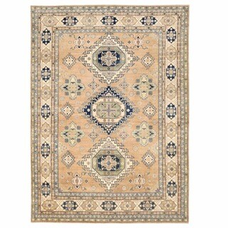 Herat Oriental Afghan Hand-knotted Oushak Wool Rug (9'9 x 13'6) - 9'9 x 13'6