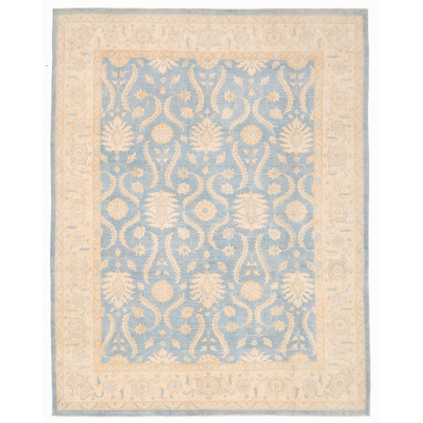 Herat Oriental Afghan Hand-knotted Oushak Wool Rug (8'11 x 11'7)