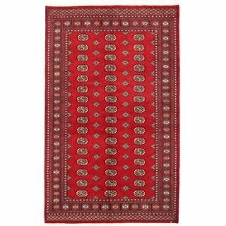 Herat Oriental Pakistani Hand-knotted Bokhara Wool Rug (6'2 x 9'2)