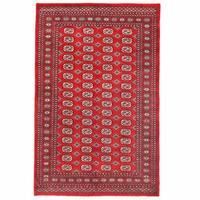 Handmade Herat Oriental Pakistani Bokhara Wool Rug  - 5'1 x 7'11 (Pakistan)