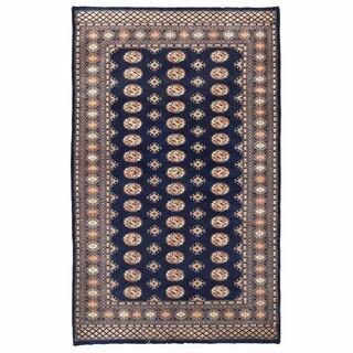 Herat Oriental Pakistani Hand-knotted Bokhara Wool Rug (5'1 x 8'3)