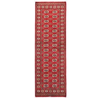 Herat Oriental Pakistani Hand-knotted Bokhara Wool Runner (2'7 x 8'2)