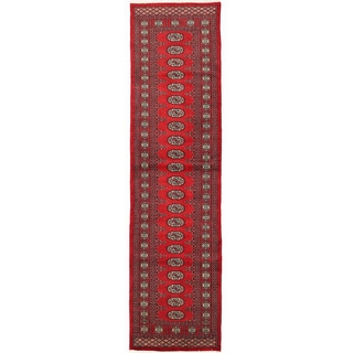 Herat Oriental Pakistani Hand-knotted Bokhara Wool Runner (2'6 x 10')
