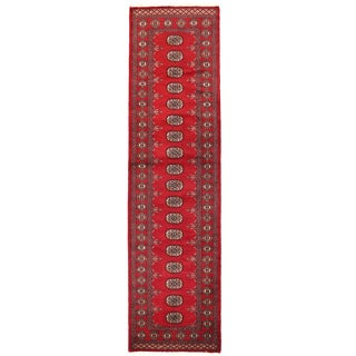 Herat Oriental Pakistani Hand-knotted Bokhara Wool Runner (2'7 x 9'8)