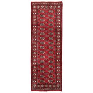 Herat Oriental Pakistani Hand-knotted Bokhara Wool Runner (2'8 x 7'10)
