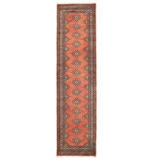 Herat Oriental Pakistani Hand-knotted Bokhara Wool Runner (2'7 x 10'1)