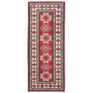 Herat Oriental Afghan Hand-knotted Kazak Wool Runner (2'3 x 5'8)
