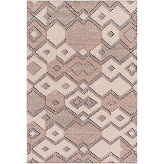 Hand Woven Octavia Wool/Cotton Area Rug (8 x 10 - Cream)