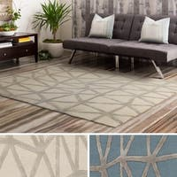 Oliver & James Ion Hand-tufted Geometric Area Rug - 8' x 10'