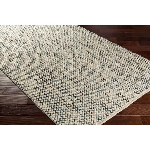Carson Carrington Mo i Rana Hand Woven Wool/Viscose Area Rug - 2' x 3'