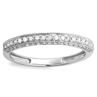 10k White Gold 2/5ct TDW Diamond Anniversary Ring (H-I, I1-I2)