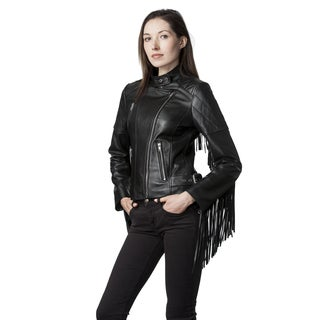 Mason & Cooper Black Leather and Lambskin Moto Jacket