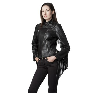Mason & Cooper Black Leather and Lambskin Moto Jacket