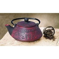Old Dutch Kodai Red/Black Cast Iron 26-ounce Teapot