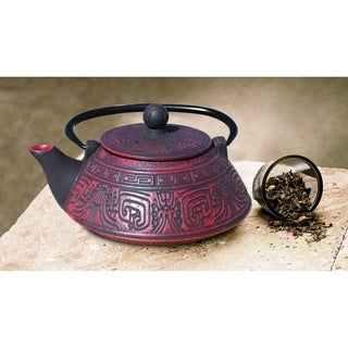 Old Dutch Kodai Red/Black Cast Iron 26-ounce Teapot