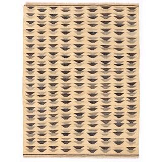 Herat Oriental Afghan Hand-woven Mimana Wool Kilim (4'2 x 5'6)
