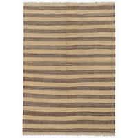Handmade Herat Oriental Afghan Mimana Wool Kilim (Afghanistan) - 4'4 x 6'2