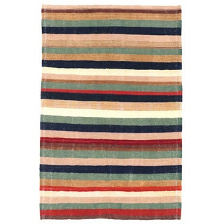 Herat Oriental Afghan Hand-woven Mimana Wool Kilim (4'2 x 6'4)