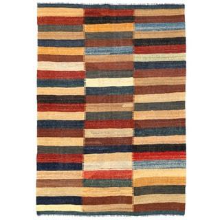 Herat Oriental Afghan Hand-woven Mimana Wool Kilim (5' x 7'2)