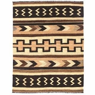 Herat Oriental Afghan Hand-woven Mimana Wool Kilim (5'3 x 6'11)