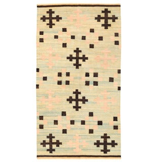 Herat Oriental Afghan Hand-woven Mimana Wool Kilim (5'4 x 9'10)