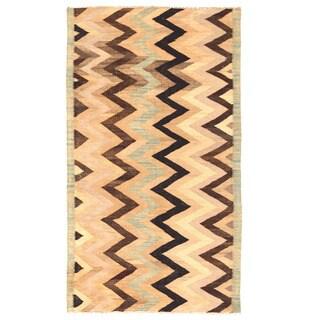 Herat Oriental Afghan Hand-woven Mimana Wool Kilim (5'3 x 9'3)
