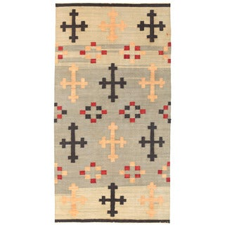 Herat Oriental Afghan Hand-woven Mimana Wool Kilim (5'4 x 10'4)