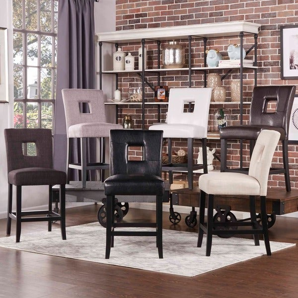 Shop Tribecca Home Decor Faux Alligator Print Dining Chair: Shop INSPIRE Q Mendoza Keyhole Counter Height Stool In