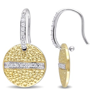 V1969 ITALIA White Sapphire Moonlight Earrings in 18k Yellow Gold Plated Sterling Silver