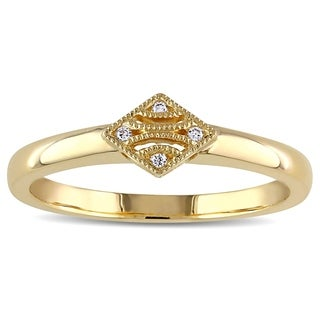 V1969 ITALIA Diamond Accent Tapestry Ring in 14k Yellow Gold