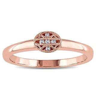 V1969 ITALIA Diamond Accent Tapestry Ring in 14k Rose Gold