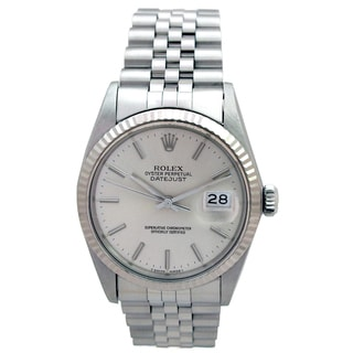 Datejust Rolex Stainless Steel Pre-owned 36-millimeter Watch