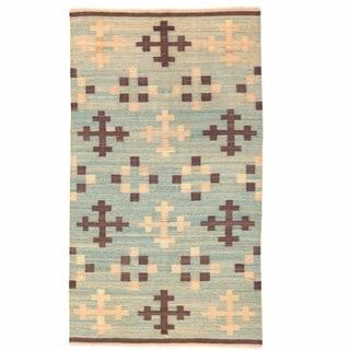 Herat Oriental Afghan Hand-woven Mimana Wool Kilim (5'6 x 9'10)