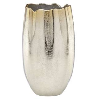Lenox Alvarado Gold/Silver Aluminum 10-inch Vase