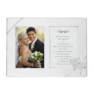 True Love Silver-plated Double Invitation Frame