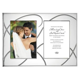 Adorn Metal Double Invitation Frame