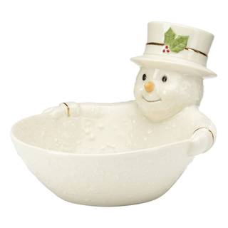 Happy Holly Days Snowman Candy Dish