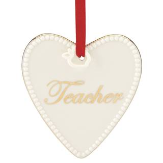 Lenox Expressions from the Heart Gold Porcelain Teacher Ornament