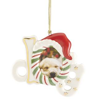 Furry Christmas Dog Frame Ornament