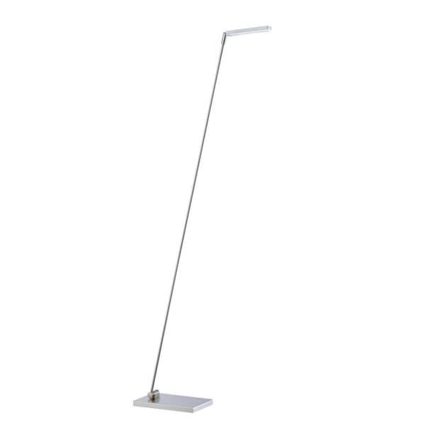 Ed 1-light 50-inch Satin Nickel Floor Lamp