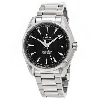 Omega Men's 231.10.42.21.01.003 'Seamaster 150' Black Dial Stainless Steel Swiss Automatic Watch
