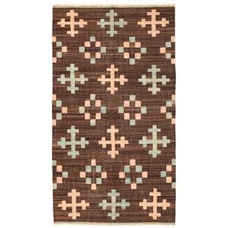 Herat Oriental Afghan Hand-woven Mimana Wool Kilim (5'1 x 9'3)