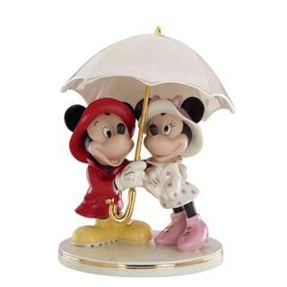 Mickey and Minnie Singing In The Rain Figurine