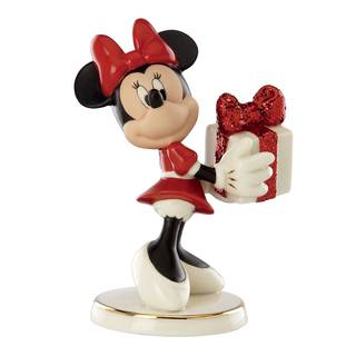 Lenox Porcelain Wrapped with Love By Minnie Figurine